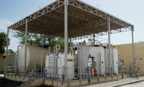 Replacement of Sodium Hydroxide Tanks and Miscellaneous Improvements, Design and Construction