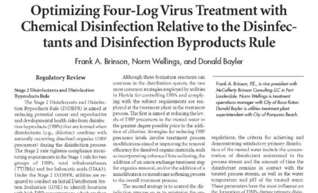 Four Log Virus Treatment of Groundwater: Compliance Studies, Process Improvements, and Demonstrations Submittals